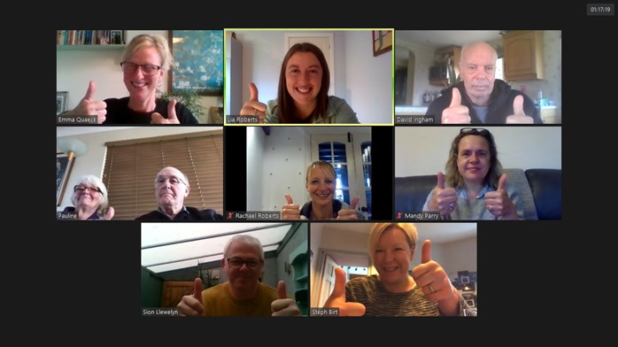 Sporting Memories virtual meeting
